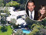 Aerial GV's of the home of Jennifer Garner and Ben Affleck in Pacific Palisades. The large home comes equipped with a large backyard with a kids play area and trampoline. The grassy yard is actually the roof of another portion of the home. There is also a guesthouse with its own kids play area and basketball court.....Pictured: Jennifer Garner and Ben Affleck's mansion....Ref: SPL94200  160409  ..Picture by: Turner / Splash News....Splash News and Pictures..Los Angeles: 310-821-2666..New York: 212-619-2666..London: 870-934-2666..photodesk@splashnews.com..