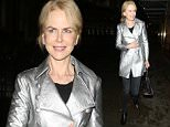 EXCLUSIVE TO INF.\nOctober 6, 2015: Nicole Kidman, pictured here for the first time since reports of her stepdaughter Isabella's wedding broke, is all smiles while out for dinner at London's J Sheekey restaurant. The 49-year-old actress' stepdaughter with Tom Cruise, Isabella Cruise, reportedly tied the knot with her British boyfriend Max Parker in a secret wedding in London on September 18. Nicole and Tom reportedly were not invited to the intimate a Scientology ceremony and were notably absent from the guest list.\nMandatory Credit: INFphoto.com\nRef: infuklo-146/195