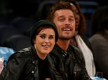 NEW YORK, NY - OCTOBER 07:  Rumor Willis and Val Chmerkovskiy attend the preseason exhibition game between Paschoalotto Bauru and the New York Knicks at Madison Square Garden on October 7, 2015 in New York City.NOTE TO USER: User expressly acknowledges and agrees that, by downloading and/or using this photograph, user is consenting to the terms and conditions of the Getty Images License Agreement.  (Photo by Elsa/Getty Images)