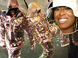 """EXCLUSIVE: **NO USA TV AND NO USA WEB **MINIMUM FEE APPLY*Missy Elliott is films her first video in L.A. come back after a long 10 years . TMZ.com got the video...Pharrell for one has said he's been working with the """"Work It"""" rapper in the studio. It looks like this song is called """"WTF."""" as Missy has that written across her chest in a gold shiny suit. \\n\\nPictured: Missy Elliott\\nRef: SPL1147241  081015   EXCLUSIVE\\nPicture by: TMZ.com / Splash News\\n\\nSplash News and Pictures\\nLos Angeles: 310-821-2666\\nNew York: 212-619-2666\\nLondon: 870-934-2666\\nphotodesk@splashnews.com\\n"""