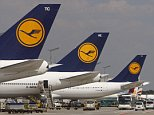 Lufthansa planes wait at Frankfurt's Rhein-Main airport.   A union representing cabin crew at German airline Lufthansa says its members plan to go on strike after talks on pay and conditions broke down.  German news agency dapd reported that the UFO union announced walkouts at all the German airports where Lufthansa has staff,  hours after talks with the company failed on Tuesday Aug. 28, 2012. It didn't give details but said the walkouts would not start on Tuesday.      FILE - In this July 28, 2008 file picture. (AP Photo/Daniel Roland, File)