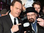 Mandatory Credit: Photo by Richard Young/REX Shutterstock (5225677x)  Bryan Cranston with a fan  'Trumbo' film premiere, 59th BFI London Film Festival, Britain - 08 Oct 2015