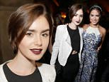 Mandatory Credit: Photo by Chelsea Lauren/Variety/REX Shutterstock (5225288i)\n Lily Collins\n 'Knock Knock' film premiere, Los Angeles, America - 07 Oct 2015\n \n