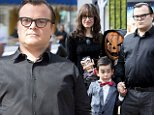 """eURN: AD*183497467  Headline: Cast member Jack Black poses with his wife Tanya Haden and son Thomas at the premiere of the film """"Goosebumps,"""" in Los Angeles Caption: Cast member Jack Black (R) poses with his wife Tanya Haden and son Thomas at the premiere of the film """"Goosebumps,"""" in Los Angeles, California October 4, 2015. REUTERS/Danny Moloshok Photographer: DANNY MOLOSHOK Loaded on 04/10/2015 at 21:18 Copyright: Reuters Provider: REUTERS  Properties: RGB JPEG Image (28291K 998K 28.4:1) 3500w x 2759h at 300 x 300 dpi  Routing: DM News : Wires (Reuters), GeneralFeed (Miscellaneous) DM Showbiz : SHOWBIZ (Miscellaneous) DM Online : Online Previews (Miscellaneous), CMS Out (Miscellaneous)  Parking:"""