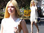 Hollywood, CA - Elle Fanning looks amazing arriving at a Studio in Hollywood, in a white sundress, with sandals carrying her iPhone.\nAKM-GSI          October 8, 2015\nTo License These Photos, Please Contact :\nSteve Ginsburg\n(310) 505-8447\n(323) 423-9397\nsteve@akmgsi.com\nsales@akmgsi.com\nor\nMaria Buda\n(917) 242-1505\nmbuda@akmgsi.com\nginsburgspalyinc@gmail.com