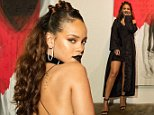 """LOS ANGELES, CA - OCTOBER 07:  Singer Rihanna at Rihanna's 8th album artwork reveal for """"ANTI"""" at MAMA Gallery on October 7, 2015 in Los Angeles, California.  (Photo by Christopher Polk/Getty Images for WESTBURY ROAD ENTERTAINMENT LLC)"""