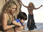 US & UK CLIENTS MUST ONLY CREDIT KDNPIX\nShakira in Tossa de Mar, Spain, during a commercial shoot.\n\nRef: SPL1147358  081015  \nPicture by: KDNPIX\n\nSplash News and Pictures\nLos Angeles: 310-821-2666\nNew York: 212-619-2666\nLondon: 870-934-2666\nphotodesk@splashnews.com\n