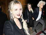 West Hollywood, CA - Ashlee Simpson and her husband Evan Ross hold hands as they arrive at The Nice Guy in West Hollywood. The singer, who celebrated her 31st birthday over the weekend, looked classy in a black dress and a pair of animal print booties. Evan showed off his eclectic style in a navy blue suit jacket over a ripped white t-shirt, skinny jeans and a wide brimmed hat.\nAKM-GSI         October 7, 2015\nTo License These Photos, Please Contact :\nSteve Ginsburg\n(310) 505-8447\n(323) 423-9397\nsteve@akmgsi.com\nsales@akmgsi.com\nor\nMaria Buda\n(917) 242-1505\nmbuda@akmgsi.com\nginsburgspalyinc@gmail.com