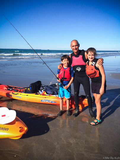Why take the kids half way across the world? How about 15 MUST DO family-friendly activities in New Zealand? What better way to convince you it's worth the trip! seakayak fishing, Me Ra Koh Photography