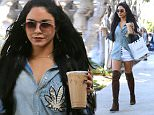 Vanessa Hudgens leaves Kate Sommerville wearing marijuana leaf shirt in LA\n\nPictured: Vanessa Hudgens\nRef: SPL1146439  071015  \nPicture by: All Access Photo Group\n\nSplash News and Pictures\nLos Angeles: 310-821-2666\nNew York: 212-619-2666\nLondon: 870-934-2666\nphotodesk@splashnews.com\n