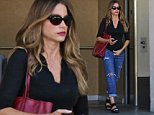 EXCLUSIVE. Coleman-Rayner. Los Angeles, CA, USA.\nOctober 07, 2015\nSofia Vergara is spotted leaving an acupuncture session in Hollywood. The Modern Family star went casual in ripped jeans, sandals and sunglasses for the outing.\nCREDIT LINE MUST READ: Coleman-Rayner\nTel US (001) 310-474-4343- office\nTel US (001) 323-545-7584 - Mobile\nwww.coleman-rayner.com