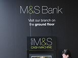 EMP1AM Cash machine from M& S Bank at The Mall in Bristol a large out of town retail units.22nd April 2015