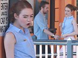 Picture Shows: Emma Stone, Ryan Gosling  October 07, 2015\n \n **VIDEO ALSO AVAILABLE** \n \n Actors, Emma Stone and Ryan Gosling filming scenes on the set of 'La La Land' in Los Angeles, California. During the scene the pair could be seen dancing. \n \n **VIDEO ALSO AVAILABLE**  \n \n Exclusive - All Round\n UK RIGHTS ONLY\n \n Pictures by : FameFlynet UK © 2015\n Tel : +44 (0)20 3551 5049\n Email : info@fameflynet.uk.com