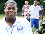 """EXCLUSIVE: **PREMIUM EXCLUSIVE RATES APPLY NO WEB UNTIL 10PM PST WEDNESDAY OCT 7TH 2015** Tracy Morgan has fun on the set of his new movie """"Fist Fight"""" in Atlanta Georgia, this is his first movie role since his car accident\n\nRef: SPL1146359  071015   EXCLUSIVE\nPicture by: Turgeon / Rocke / Splash News\n\nSplash News and Pictures\nLos Angeles: 310-821-2666\nNew York: 212-619-2666\nLondon: 870-934-2666\nphotodesk@splashnews.com\n"""
