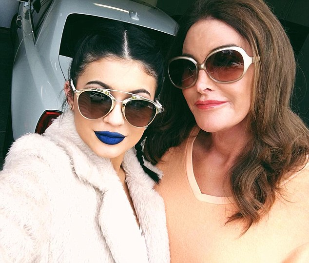 Standing up to bullies: The Keeping Up With the Kardashians beauty was seen given her father a makeover with blue lipstick in aid of World Bullying Prevention Day