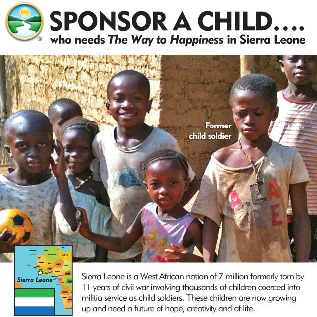 Sponsor a child... who needs The Way to Happiness in Sierra Leone
