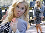 EXCLUSIVE Amy Schumer is seen taping an episode for her new TV show Saturday Night Live with co-host Vanessa Bayer and team in Central Park, New York, 8 October 2015.\n8 October 2015.\nPlease byline: Vantagenews.com