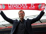 LIVERPOOL, ENGLAND - OCTOBER 09:  (THE SUN OUT, THE SUN ON SUNDAY OUT) (MINIMUM PRINT FEE OF GBP 150, BROADCAST FEE OF GBP 150, ONLINE FEE OF GBP 75 PER IMAGE, OR LOCAL EQUIVALENT) Jurgen Klopp new manager of Liverpool at Anfield on October 9, 2015 in Liverpool, England.  (Photo by Nick Taylor/Liverpool FC via Getty Images)