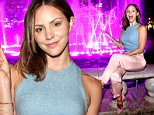 **EXCLUSIVE**  Date: October 7th 2015    Photo Credit: MOVI Inc.\nKatharine McPhee goes pink as she launches Breast Cancer Awareness Month at The Grove in Los Angeles.