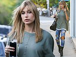 West Hollywood, CA - Young babe Hailey Baldwin and her friend Shamari Maurice arrive for a late lunch at Urth Caffe, the pretty model wore a green tee with ripped jeans and black leather booties matching her Givenchy tote bag.    AKM-GSI       October 8, 2015  To License These Photos, Please Contact : Steve Ginsburg (310) 505-8447 (323) 423-9397 steve@akmgsi.com sales@akmgsi.com or Maria Buda (917) 242-1505 mbuda@akmgsi.com ginsburgspalyinc@gmail.com