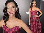 "NEW YORK, NY - OCTOBER 09: Actress Christian Serratos attends the season six premiere of ""The Walking Dead"" at Madison Square Garden on October 9, 2015 in New York City.  (Photo by Theo Wargo/Getty Images)"
