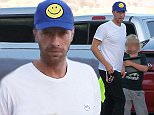 Please contact X17 before any use of these exclusive photos - x17@x17agency.com   Chris Martin takes son Moses and one of his friends to the beach for a fun day out in Malibu. October 9, 2015 X17online.com EXCLUSIVE