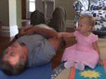 hilariabaldwinYou want yoga dada? @thelittleyogamat