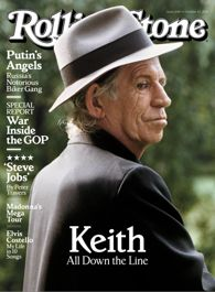 Keith Richards on the cover of Rolling stone