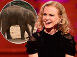 Nicole Kidman during filming of the Graham Norton Show at The London Studios, south London, to be aired on BBC One on Friday evening. PRESS ASSOCIATION Photo. Picture date: Thursday October 8, 2015. Photo credit should read: PA Images on behalf of So TV