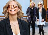 eURN: AD*184174721  Headline: Diane Sawyer and Jennifer Lawrence are chummy on set while filming in NYC Caption: New York, NY - Actress Jennifer Lawrence and television journalist Diane Sawyer have a good time while filming in Union Square.      AKM-GSI        October 10, 2015 To License These Photos, Please Contact : Steve Ginsburg (310) 505-8447 (323) 423-9397 steve@akmgsi.com sales@akmgsi.com or Maria Buda (917) 242-1505 mbuda@akmgsi.com ginsburgspalyinc@gmail.com Photographer: AGNY  Loaded on 10/10/2015 at 22:23 Copyright:  Provider: Wagner Az/AKM-GSI  Properties: RGB JPEG Image (13987K 1478K 9.5:1) 1784w x 2676h at 300 x 300 dpi  Routing: DM News : GeneralFeed (Miscellaneous) DM Showbiz : SHOWBIZ (Miscellaneous) DM Online : Online Previews (Miscellaneous), CMS Out (Miscellaneous)  Parking: