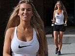 CHRISTINE MCGUINNESS SEEN LEAVING HER GYM IN TINY SHORTS AND VEST  \n\n***EXC ALL ROUND*** \n \n***iCelebTV.com***\n\n