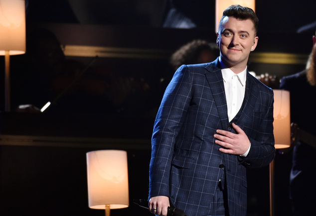 Sam Smith performs at the 57th annual Grammy Awards on Sunday, Feb. 8, 2015, in Los Angeles. (Photo by John Shearer/Invision/AP)