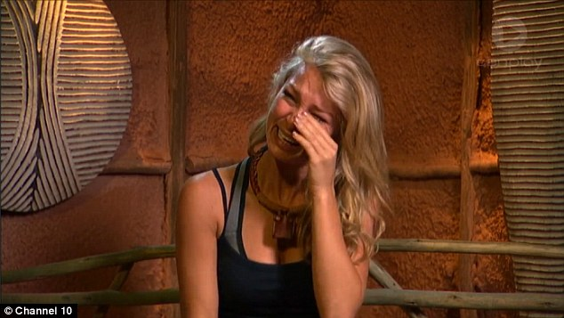 Needy:  Anna Heinrich collapses in tears less than 24 hours after arriving in I'm A Celeb as other campers grow increasingly resentful of the PDAs