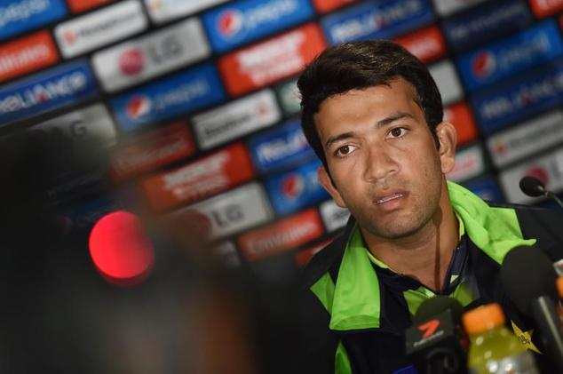 Pakistan's newest batting star Sohaib Maqsood speaks at a press conference in Sydney, on February 8, 2015