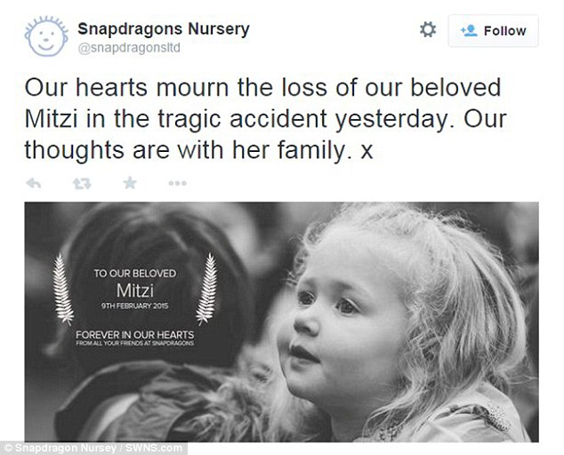 Snapdragons Nursery, which Mitzi attended, tweeted this message yesterday after hearing of her death