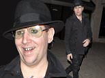 Marilyn Manson literally 'Stops traffic' on one of the busiest streets in Los Angeles after leaving the 'Nice Guy' Bar in West Hollywood, CA\n\nPictured: Marilyn Manson\nRef: SPL1147785  091015  \nPicture by: SPW / Splash News\n\nSplash News and Pictures\nLos Angeles: 310-821-2666\nNew York: 212-619-2666\nLondon: 870-934-2666\nphotodesk@splashnews.com\n