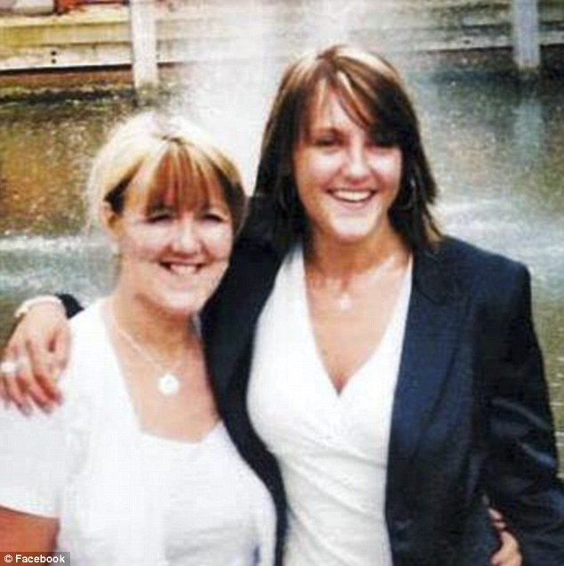 Close: Miss Jensen with her 63-year-old mother, Winifred Barber. Mrs Barber told the inquest her daughter seemed upset but 'not distraught' when she last saw her on a family outing two days before her death