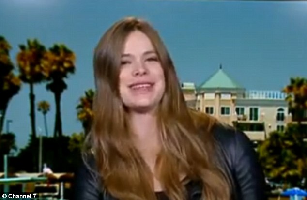 Exciting times: During a chat with Channel Seven's The Daily Edition on Tuesday, pregnat model Robyn Lawley revealed she'd love to elope with her partner Everest Schmidt