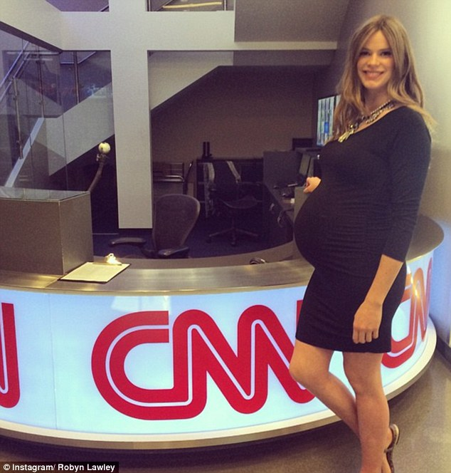 Not long to go! 'Guess what baby your [sic] about to be on @cnn haha many tales to tell my future baby @brookebcnn @si_swimsuit #superduperpregnant,' the model wrote on Monday