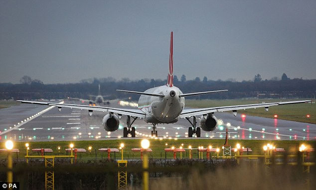One operator, which the CAA did not name, was responsible for 35 of the 111 reports of low fuel. London's Heathrow Airport (pictured) experienced the highest number of reports of low fuel incidents, with a total of 19