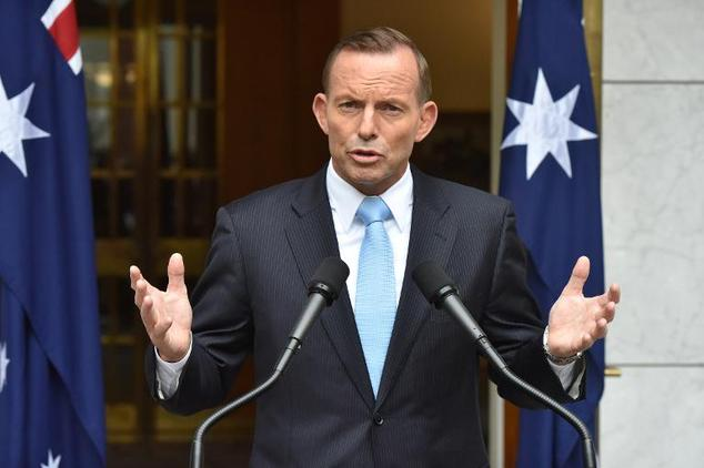 Australian Prime Minister Tony Abbott speaks during a press conference after retaining the leadership of the Liberal party, at Parliament House in Canberra, ...