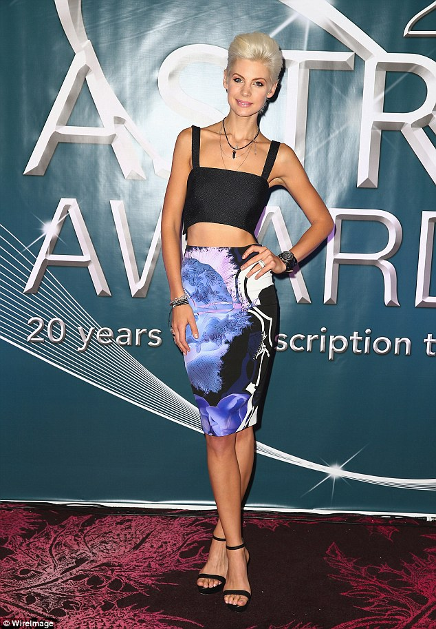 Stylish: Kate Peck looked stunning as she co-hosted the 2015 ASTRA nominations at Sydney's The Star on Tuesday