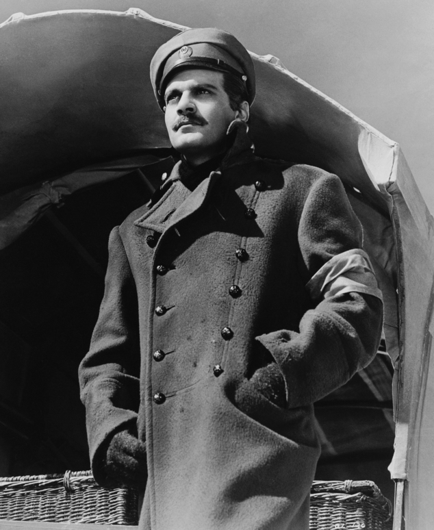 """FILE - This 1965 file image originally released by MGM shows actor Omar Sharif in """"Doctor Zhivago."""" The musical of """"Doctor Zhivago,"""" Boris Pasternak's Nobel ..."""