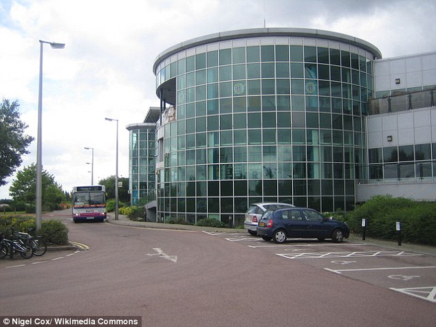 Officers found 1,500 indecent images of children, dating back as far as 2000, on Goldberg's computer - some which had been secretly taken at the leisure centre (pictured)