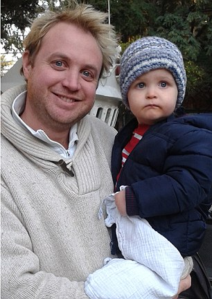 Mr Adair is seen today (above0 with his son Ben, whom he named after his rowing partner and friend, Ben