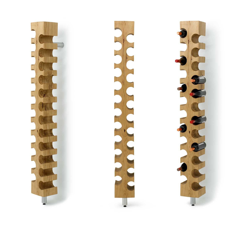 Shape of wooden wine rack