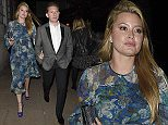 LONDON, ENGLAND - OCTOBER 10:  Holly Valance and Nick Candy leave Lulu's member's club in Mayfair on October 10, 2015 in London, England.  (Photo by Keith Hewitt/GC Images)
