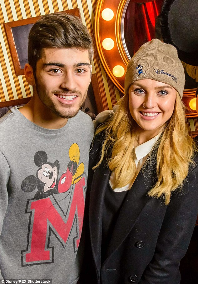 Case of the ex: Perrie and ex-1D star Zayn Malik, pictured in January 2014, ended their engagement in August after three years as a couple