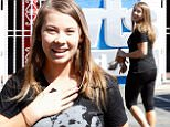 Bindi Irwin and her Mum Terri want a Steven Irwin Day Caption: UK CLIENTS MUST CREDIT: AKM-GSI ONLY EXCLUSIVE: Hollywood, CA - Bindi Irwin seen arriving at the dance studio on Friday with her Mum Terri Irwin.   Bindi hugs a fan after some kind words.  Terri looks on and has something in her arms saying 'Steve Irwin Day'.  The Aussie Mum and daughter walk in and Bindi gives an over the shoulder.  Pictured: Bindi Irwin, Terri Irwin Ref: SPL1148377  091015   EXCLUSIVE Picture by: AKM-GSI / Splash News   Photographer: AKM-GSI / Splash News  Loaded on 10/10/2015 at 08:28 Copyright:  Provider: AKM-GSI  Properties: RGB JPEG Image (20007K 2282K 8.8:1) 2134w x 3200h at 72 x 72 dpi  Routing: DM News : GeneralFeed (Miscellaneous) DM Showbiz : SHOWBIZ (Miscellaneous) DM Online : Online Previews (Miscellaneous), CMS Out (Miscellaneous)  Parking: