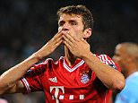 Bayern Munich's Thomas Muller during the match.  PRESS ASSOCIATION Photo. Issue date: Thursday July 23, 2015. Bayern Munich chairman Karl-Heinz Rummenigge has declared Thomas Muller priceless amid reports of a 100million euro (£70.5m) bid from Manchester United. See PA story SOCCER Bayern Munich Muller. Photo credit should read Martin Rickett/PA Wire.  File photo dated 02-10-2013.